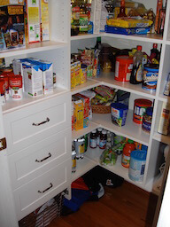 Filled, Organized Pantry