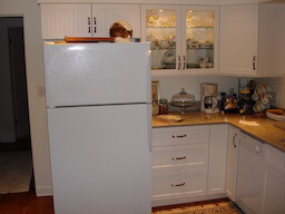 Kitchen White Beaded Doors