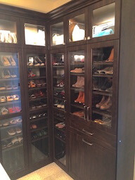 Closet Shoes Glass Doors